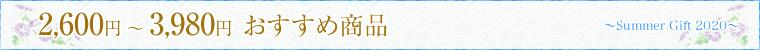 2600円〜3980円